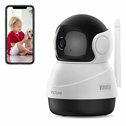 Picture of [2021 Upgraded] Pet Camera, Victure 1080P Wi-Fi Home Security Camera, Sound Detection, Motion Detection and Tracking, Two-Way Audio, Night Vision, Cloud Service, iOS/Android, APP Victure Home