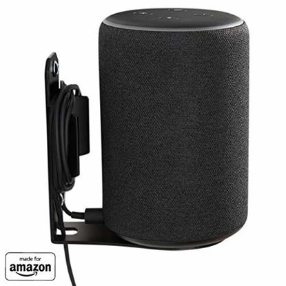 """Picture of """"Made for Amazon"""" Wall Mount for Echo (2nd Gen or 3rd Gen) and Echo Plus (2nd Gen) - Black"""