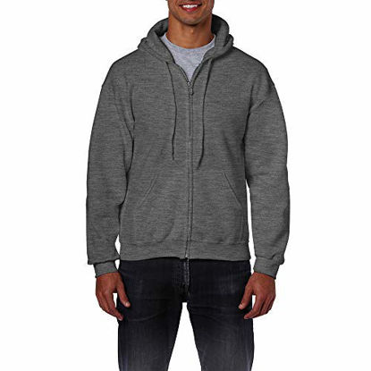 Picture of ?Gildan Adult Heavy Blend? Full-Zip Hooded Sweatshirt (Purple) (Small)